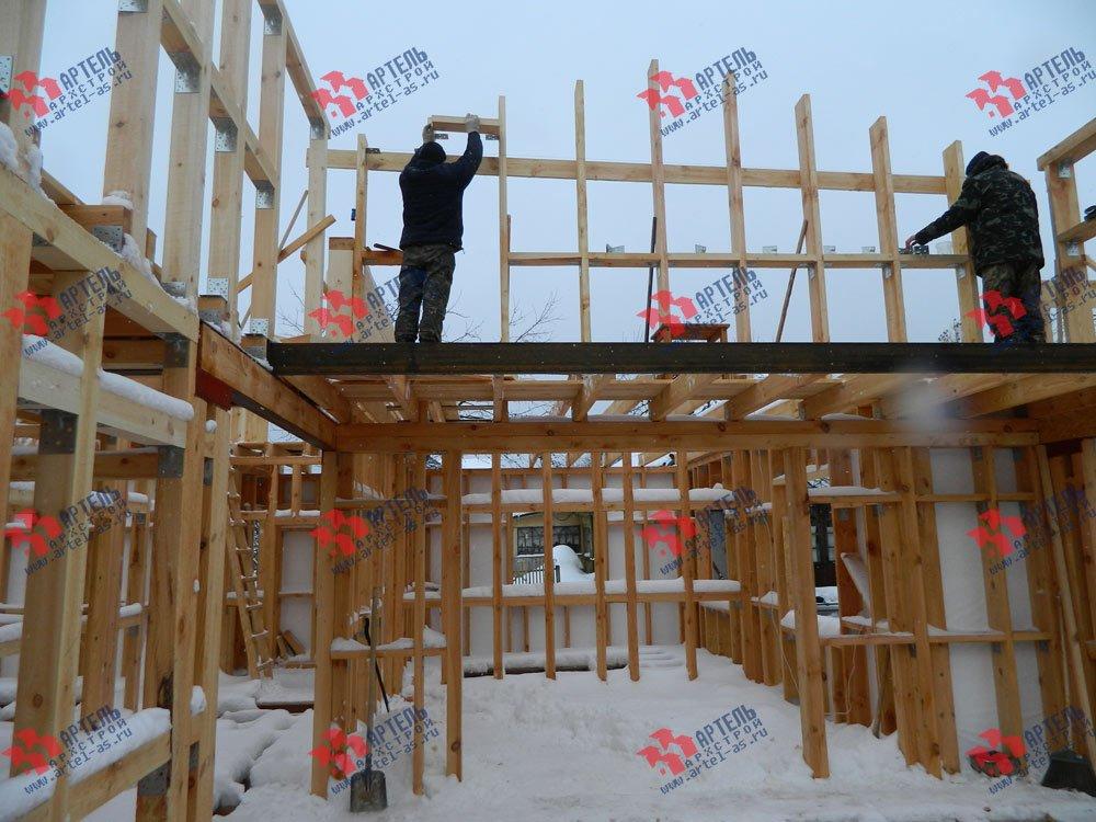 дом из профилированного бруса камерной сушки построенный по проекту Вариант 5 фотография 2978