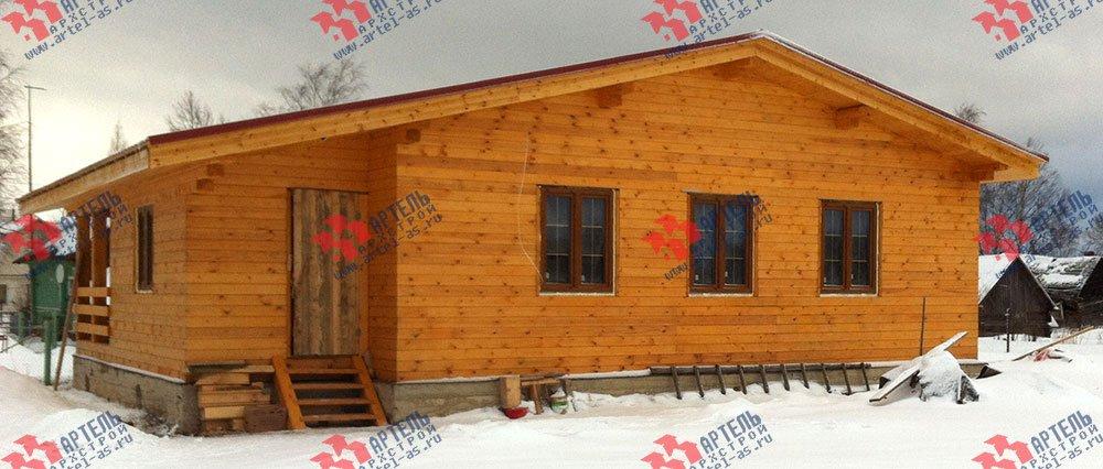дом из профилированного бруса построенный по проекту Вариант 9.8 К фотография 2820