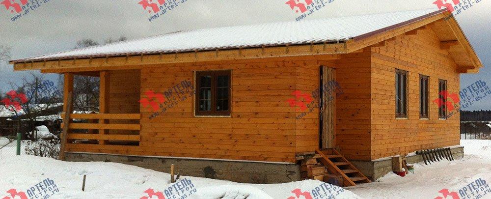 дом из профилированного бруса построенный по проекту Вариант 9.8 К фотография 2819