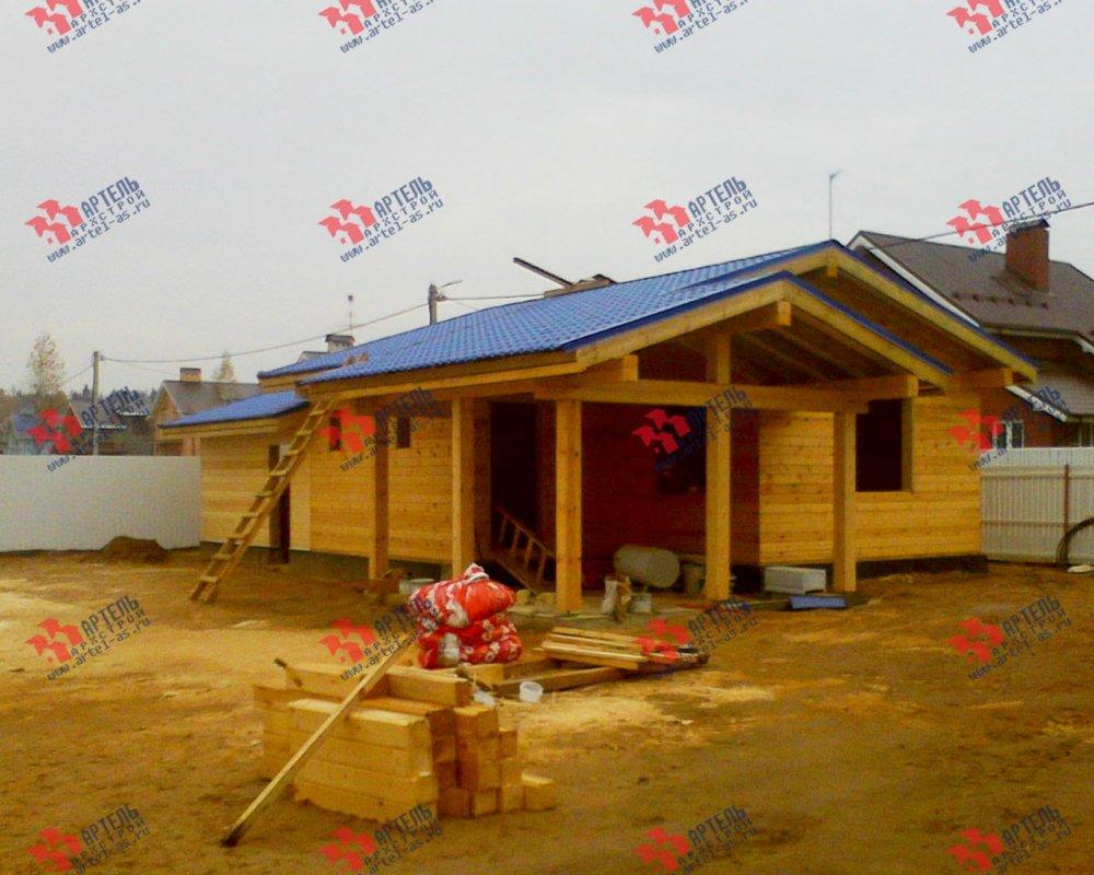 дом из профилированного бруса построенный по проекту Вариант 7.8 Б фотография 3545