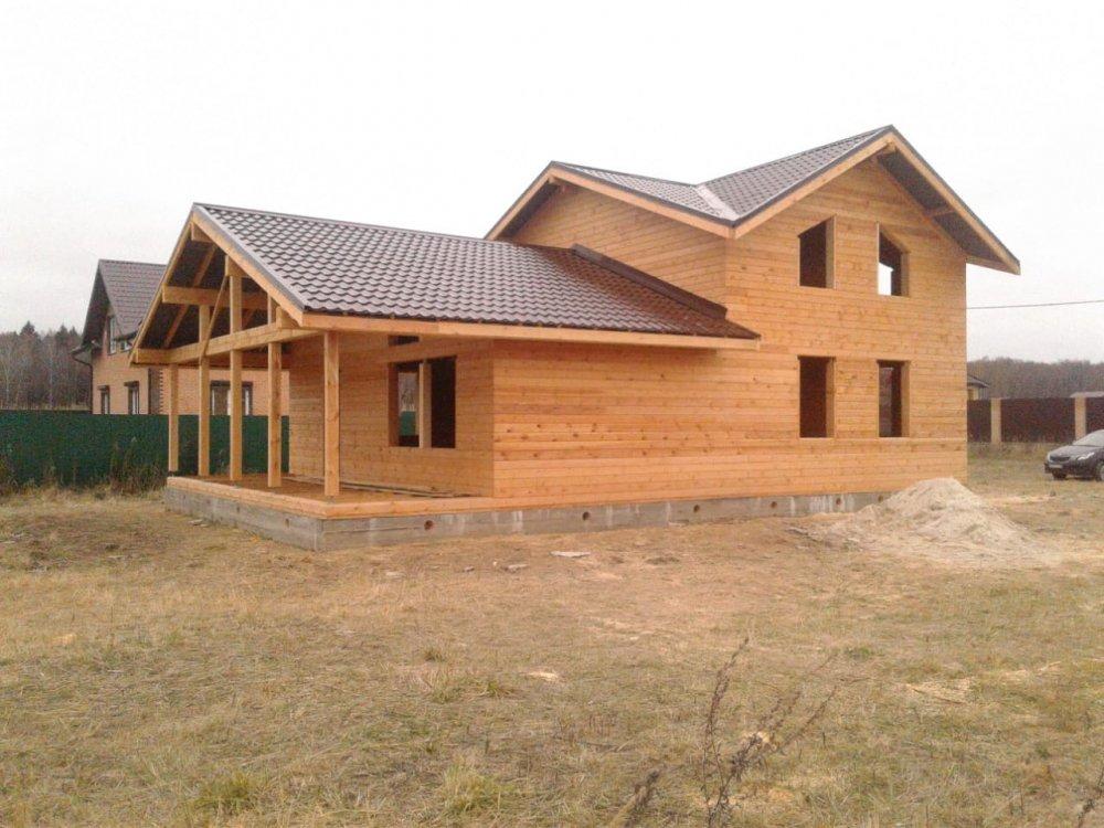дом из профилированного бруса построенный по проекту Вариант 13.3 А фотография 5724