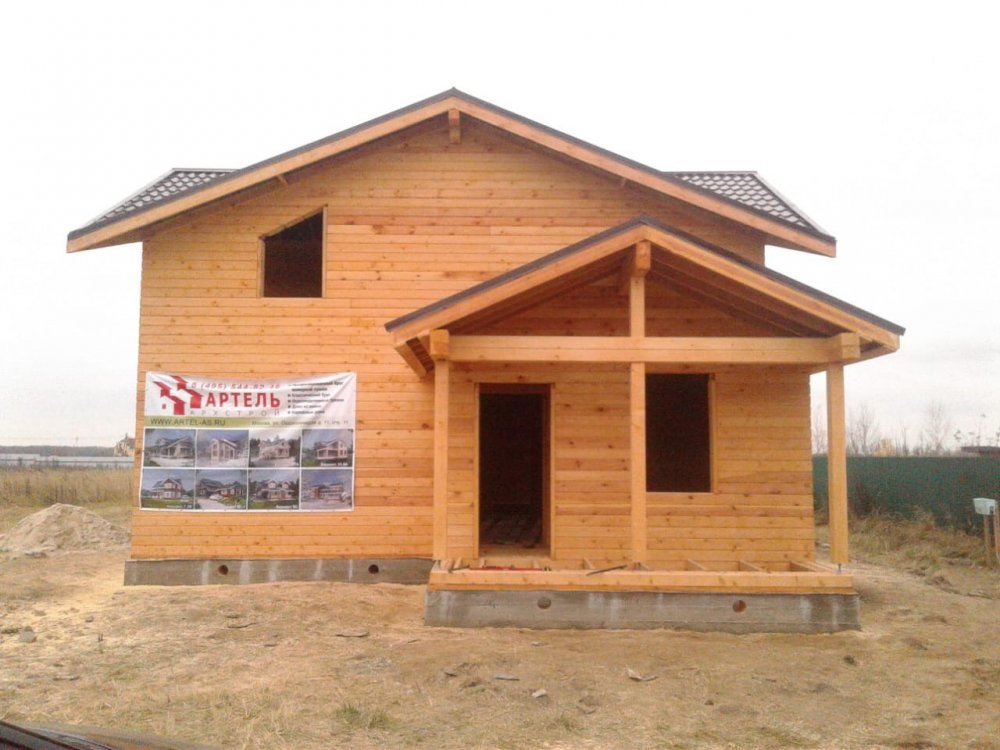 дом из профилированного бруса построенный по проекту Вариант 13.3 А фотография 5725