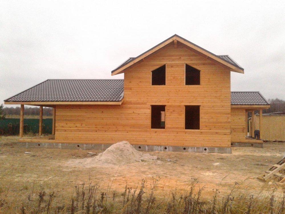 дом из профилированного бруса построенный по проекту Вариант 13.3 А фотография 5726
