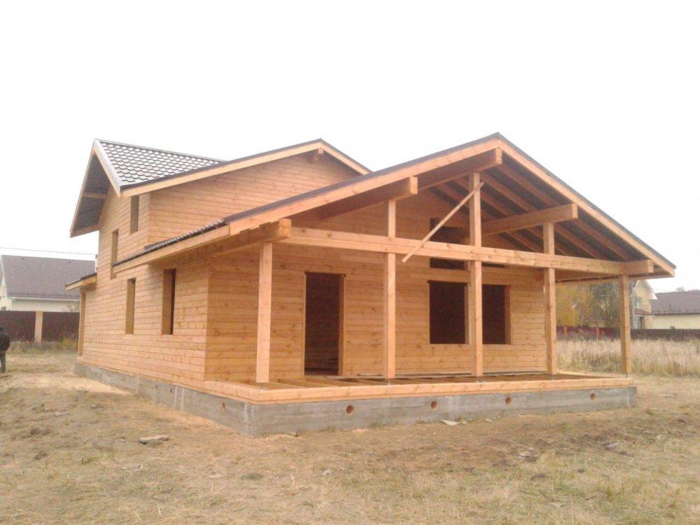 дом из бруса построенный по проекту Вариант 13.3 А фотография 5728