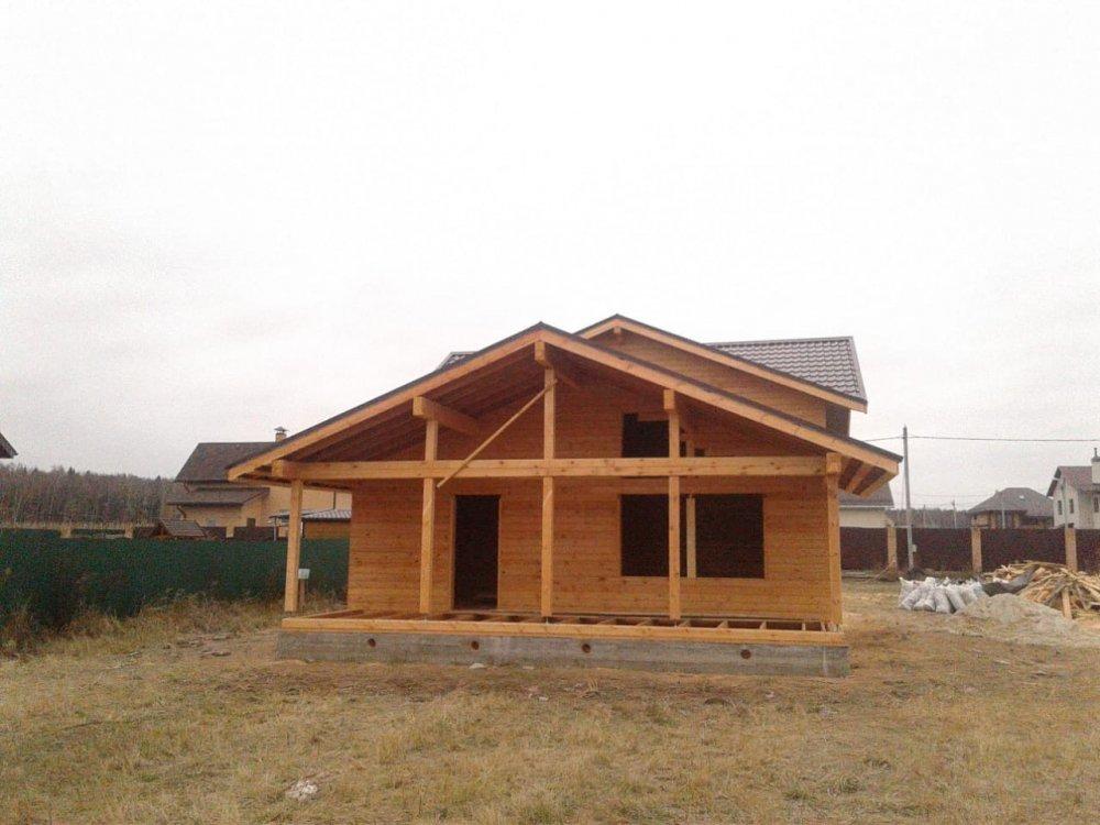 дом из профилированного бруса построенный по проекту Вариант 13.3 А фотография 5729