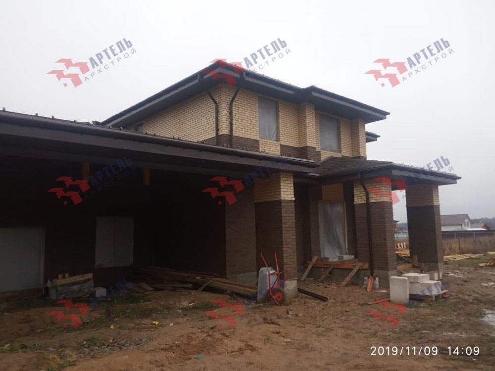 дом омбинированные дома построенный по проекту Вариант 18,4А Камень и Комбинированный фотография 6103