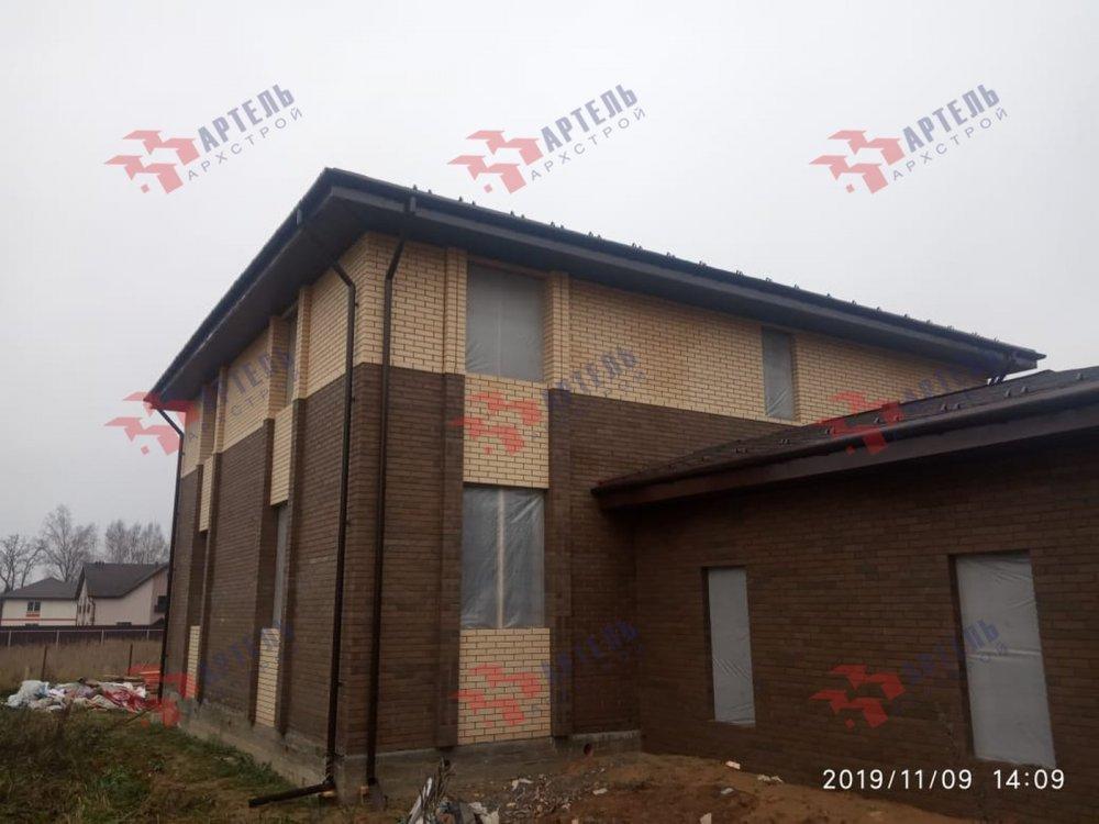 дом омбинированные дома построенный по проекту Вариант 18,4А Камень и Комбинированный фотография 6104