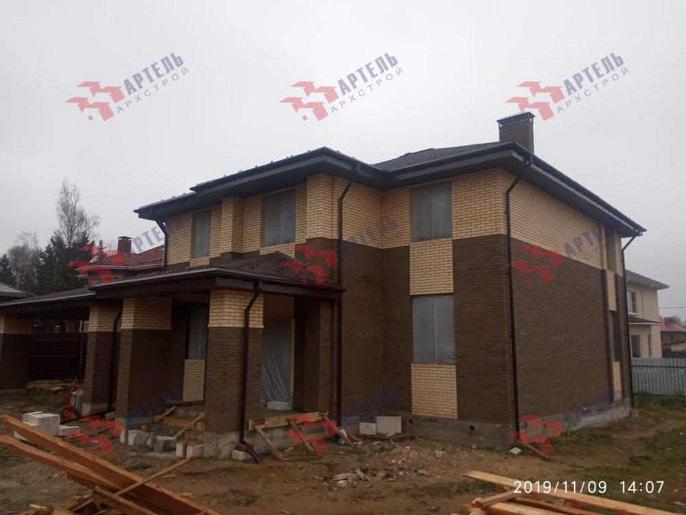 дом омбинированные дома построенный по проекту Вариант 18,4А Камень и Комбинированный фотография 6106