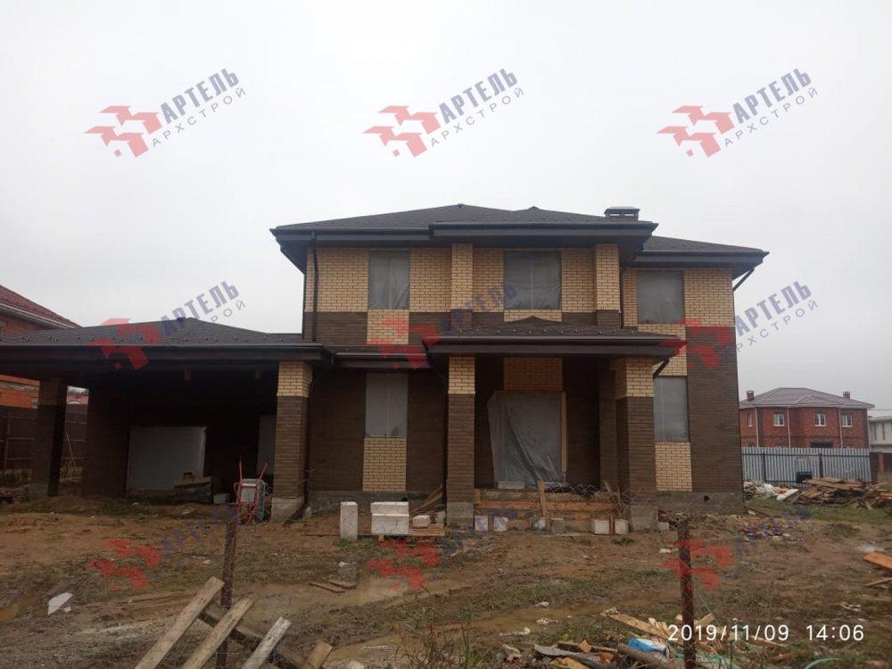 дом омбинированные дома построенный по проекту Вариант 18,4А Камень и Комбинированный фотография 6107