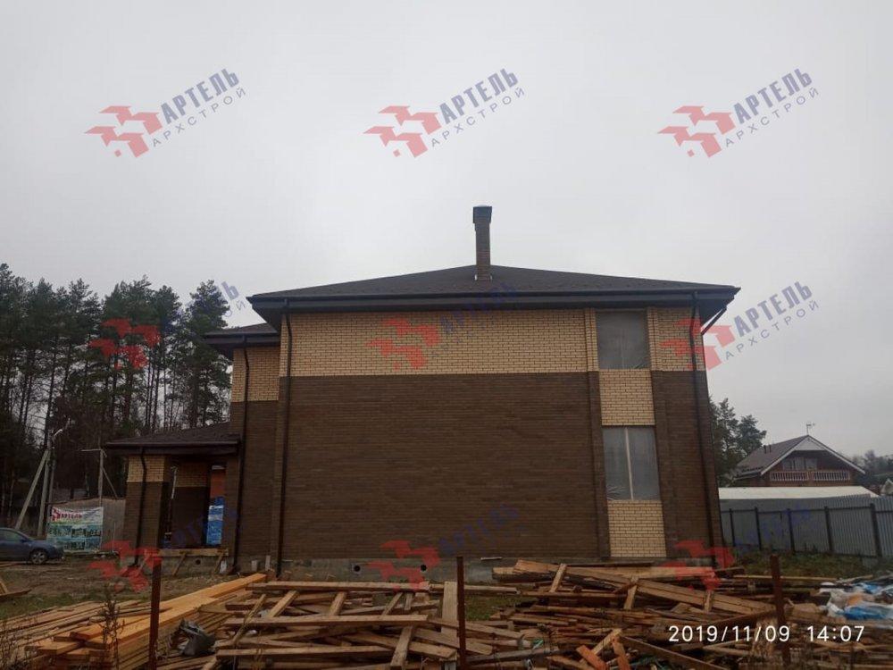 дом омбинированные дома построенный по проекту Вариант 18,4А Камень и Комбинированный фотография 6108