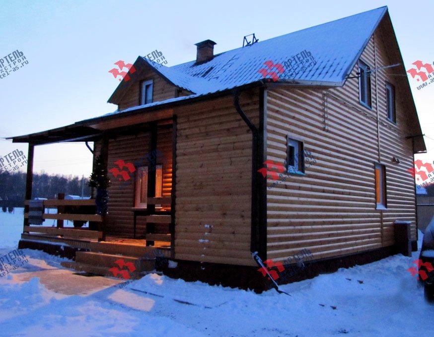 дом из профилированного бруса построенный по проекту Вариант 7.2 А фотография 1658