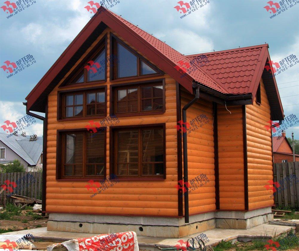 дом из профилированного бруса построенный по проекту Вариант 3 фотография 1602