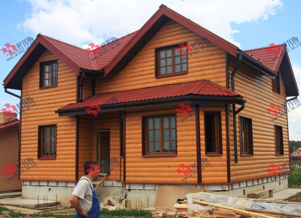 дом из бруса построенный по проекту Вариант 9.5 А фотография 2232
