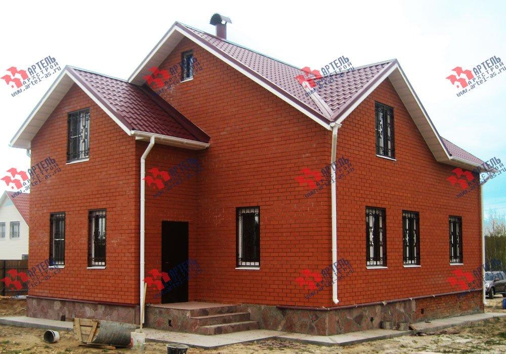 дом из бруса построенный по проекту Вариант 12.8 А фотография 1907