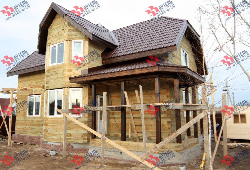 дом из бруса построенный по проекту Вариант 9.3 В фотография 3261