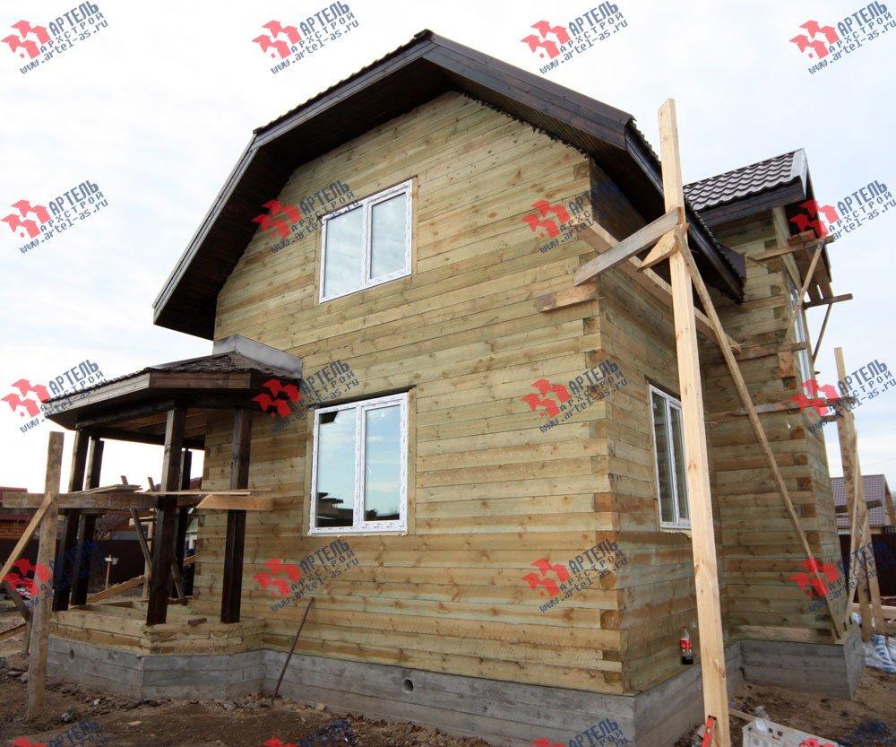 дом из бруса построенный по проекту Вариант 9.3 В фотография 3262