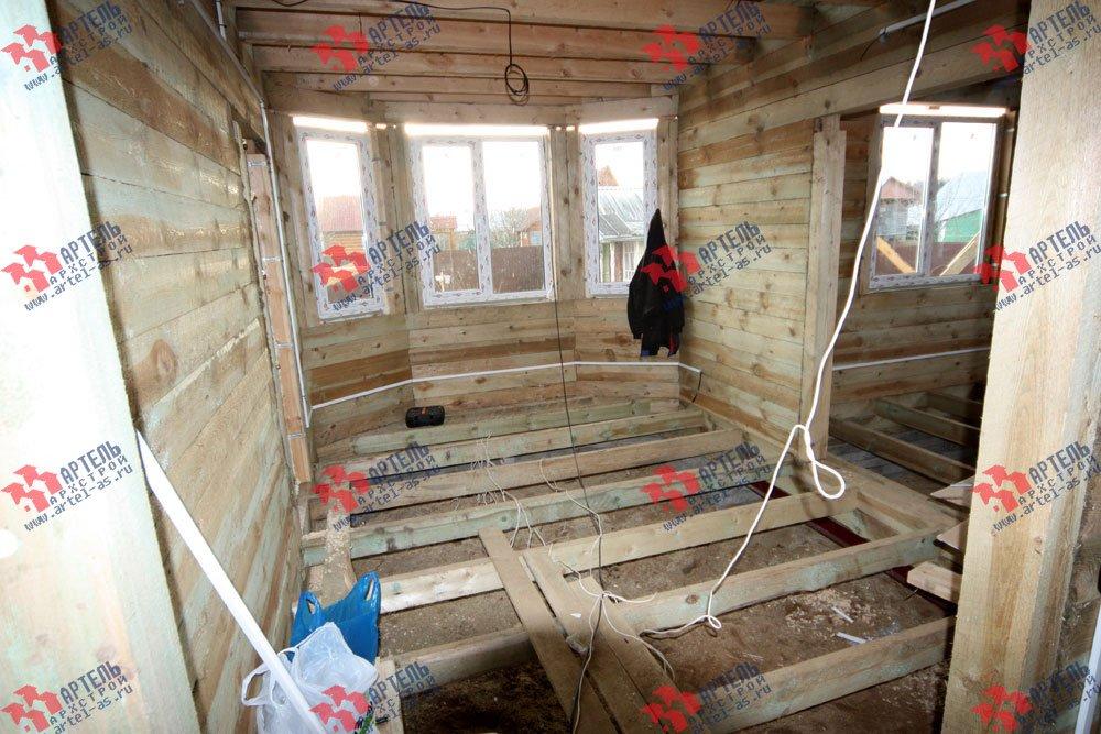 дом из бруса построенный по проекту Вариант 9.3 В фотография 3266