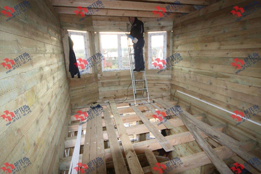 дом из бруса построенный по проекту Вариант 9.3 В фотография 3272