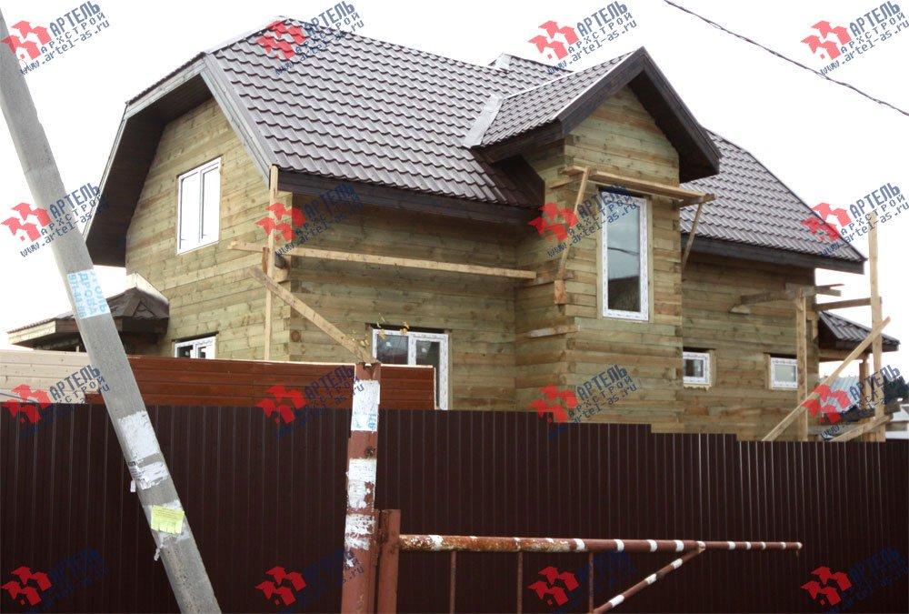 дом из бруса построенный по проекту Вариант 9.3 В фотография 3263