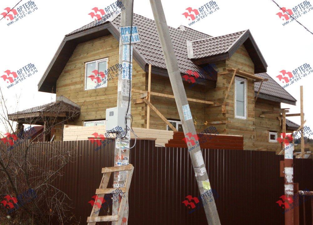 дом из бруса построенный по проекту Вариант 9.3 В фотография 3264