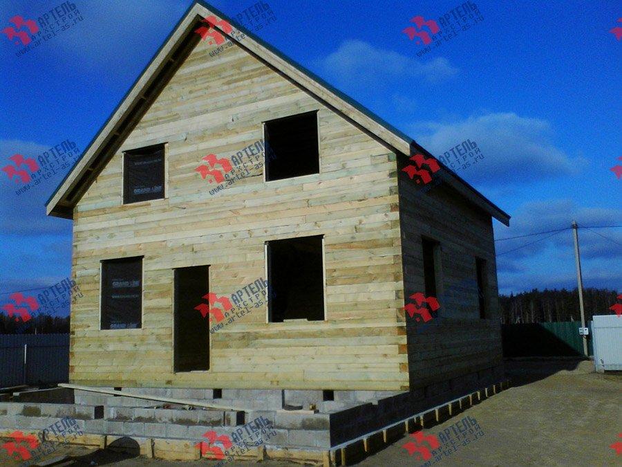 дом из бруса построенный по проекту Вариант 8 Е фотография 3556