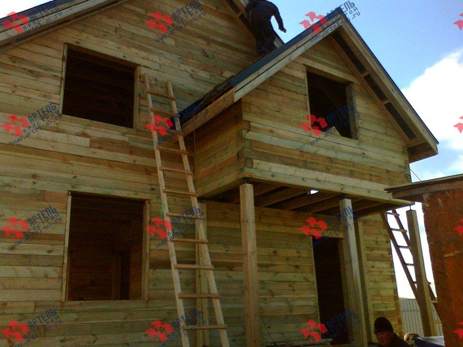 дом из бруса построенный по проекту Вариант 8 Е фотография 3559