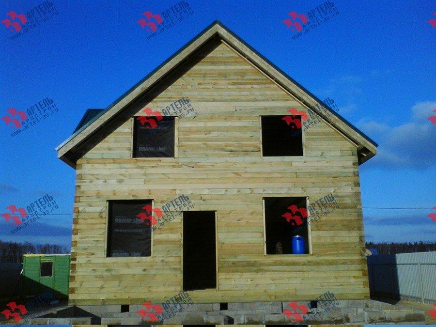 дом из бруса построенный по проекту Вариант 8 Е фотография 3560