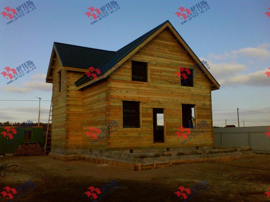 дом из бруса построенный по проекту Вариант 8 Е фотография 3561