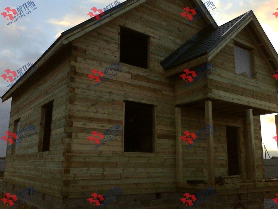 дом из бруса построенный по проекту Вариант 8 Е фотография 3562
