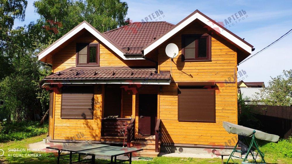 дом из бруса построенный по проекту Вариант 9.5 А фотография 6113