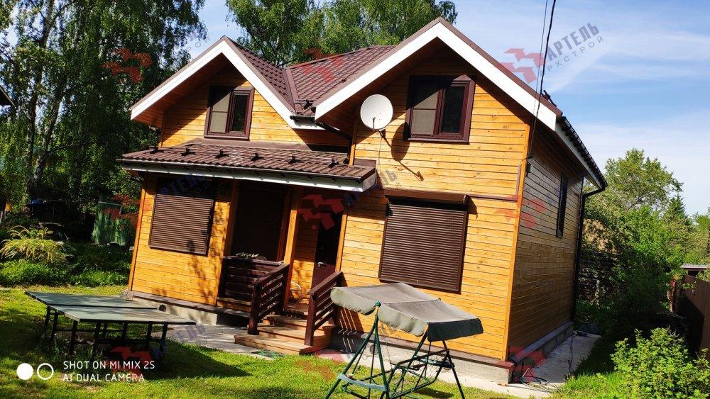 дом из бруса построенный по проекту Вариант 9.5 А фотография 6114