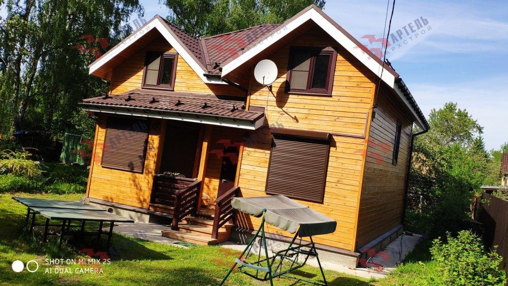 дом из бруса построенный по проекту Вариант 9.5 А фотография 6115