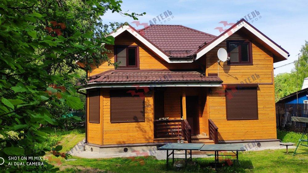 дом из бруса построенный по проекту Вариант 9.5 А фотография 6116