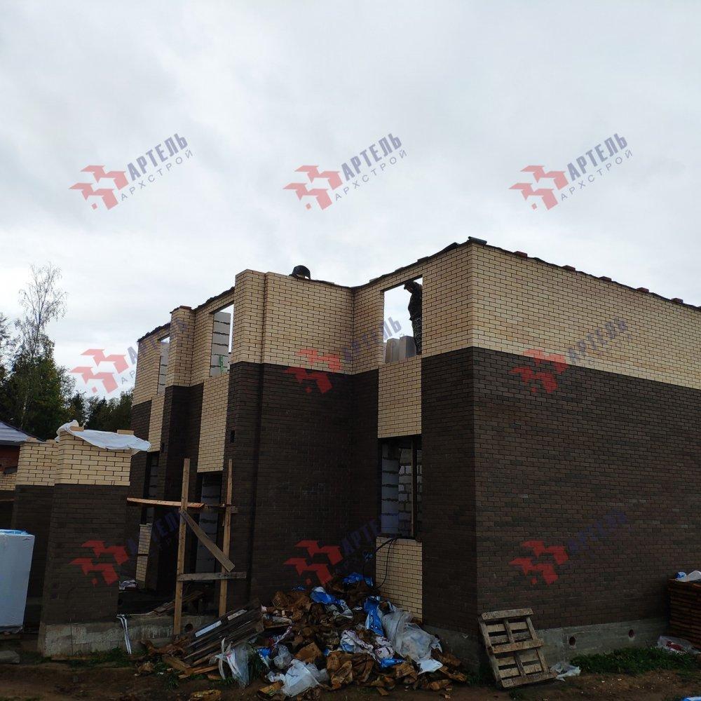 дом омбинированные дома построенный по проекту Вариант 18,4А Камень и Комбинированный фотография 6134
