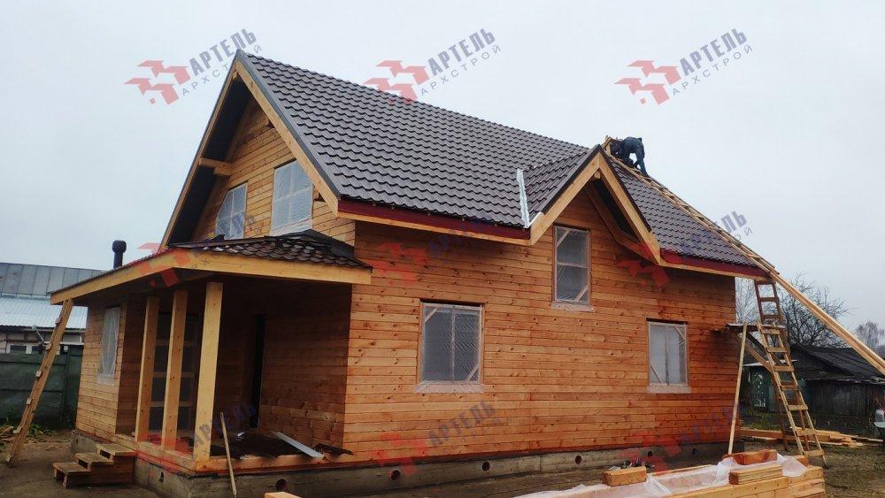 дом из профилированного бруса построенный по проекту Вариант 9,9К фотография 6089