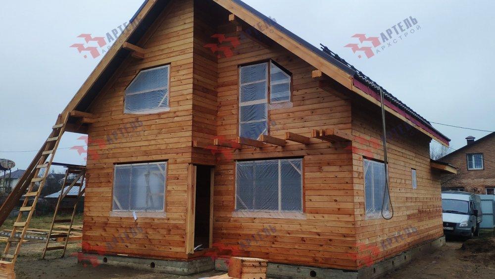 дом из профилированного бруса построенный по проекту Вариант 9,9К фотография 6090