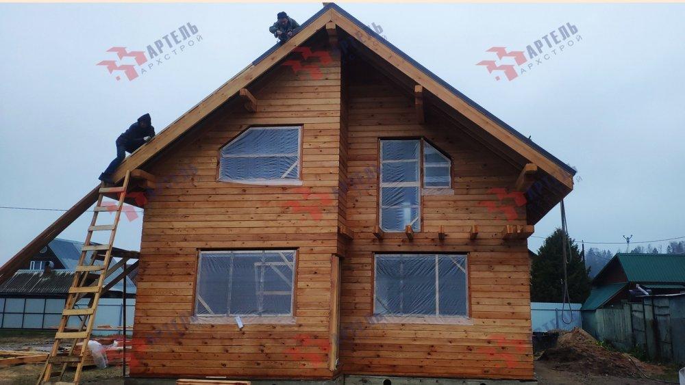 дом из профилированного бруса построенный по проекту Вариант 9,9К фотография 6091