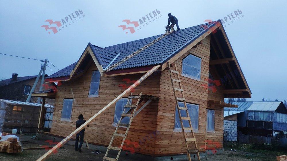 дом из профилированного бруса построенный по проекту Вариант 9,9К фотография 6092