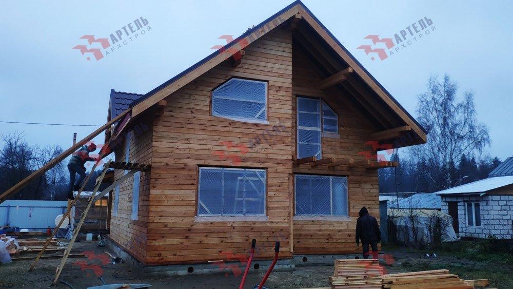 дом из профилированного бруса построенный по проекту Вариант 9,9К фотография 6093