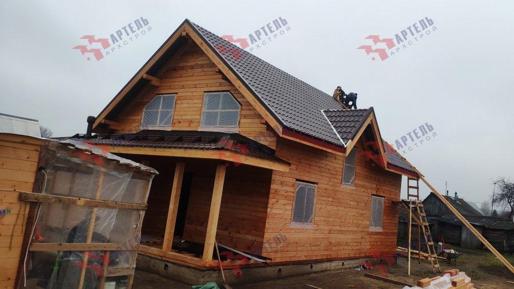 дом из профилированного бруса построенный по проекту Вариант 9,9К фотография 6094
