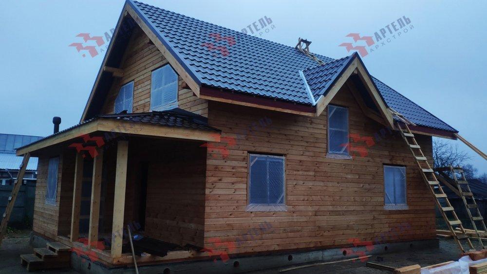 дом из профилированного бруса построенный по проекту Вариант 9,9К фотография 6095