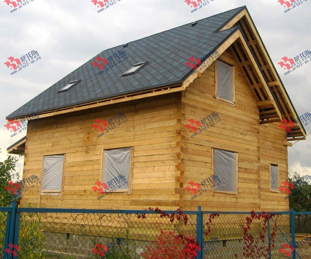 дом из бруса построенный по проекту Вариант 8.2 А фотография 2184