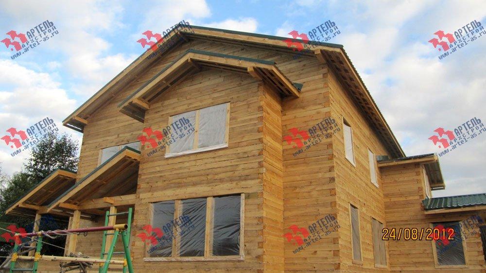 дом из бруса построенный по проекту Вариант 11.1 А фотография 2590