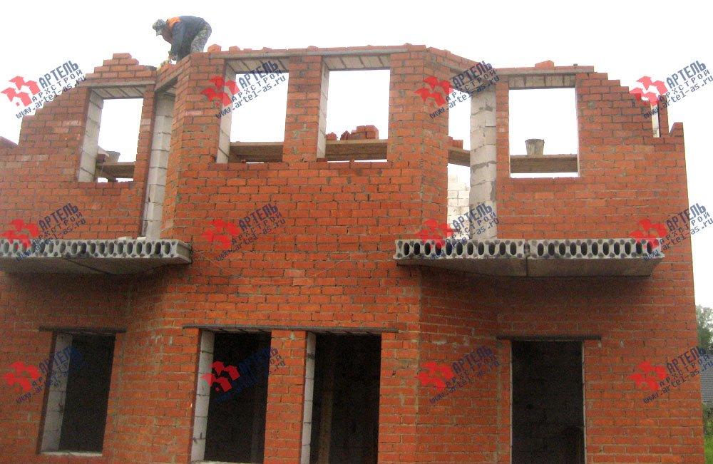 дом омбинированные дома построенный по проекту Вариант 23 фотография 2730