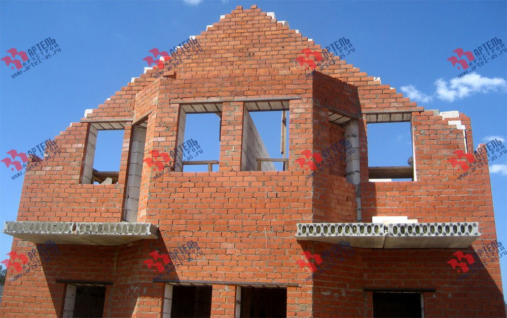 дом омбинированные дома построенный по проекту Вариант 23 фотография 2732