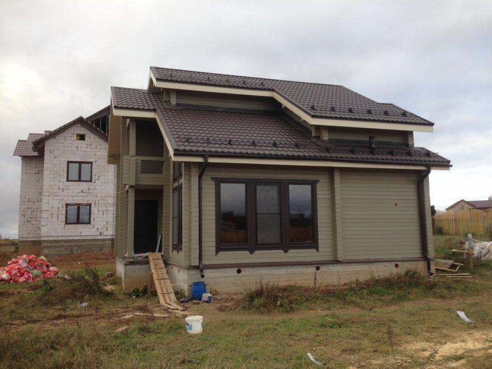 дом из профилированного бруса построенный по проекту Вариант 9.3 К фотография 4842