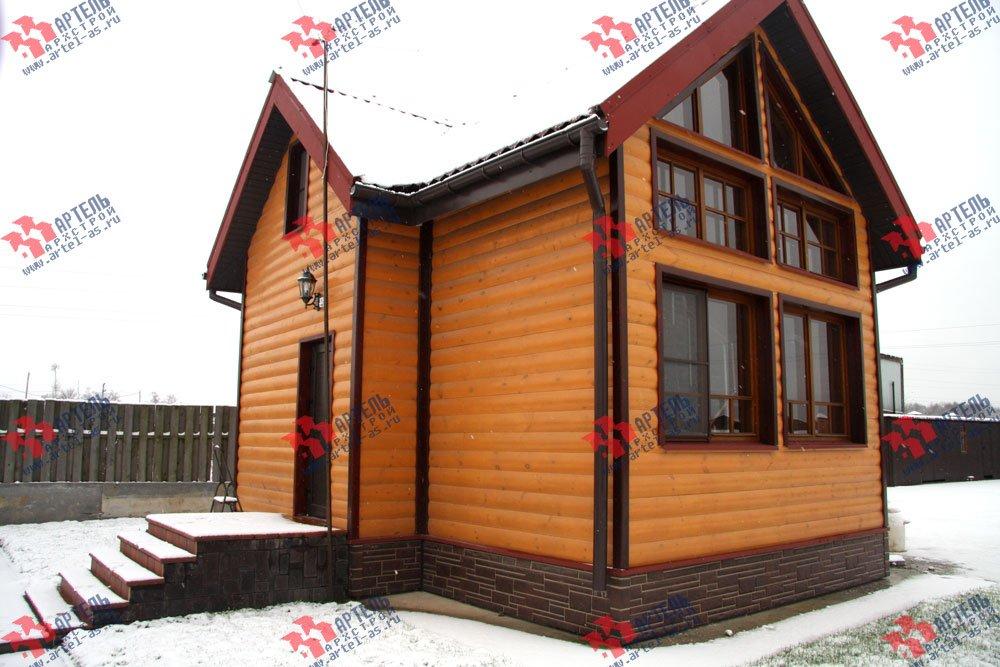 дом из профилированного бруса построенный по проекту Вариант 3 фотография 1603