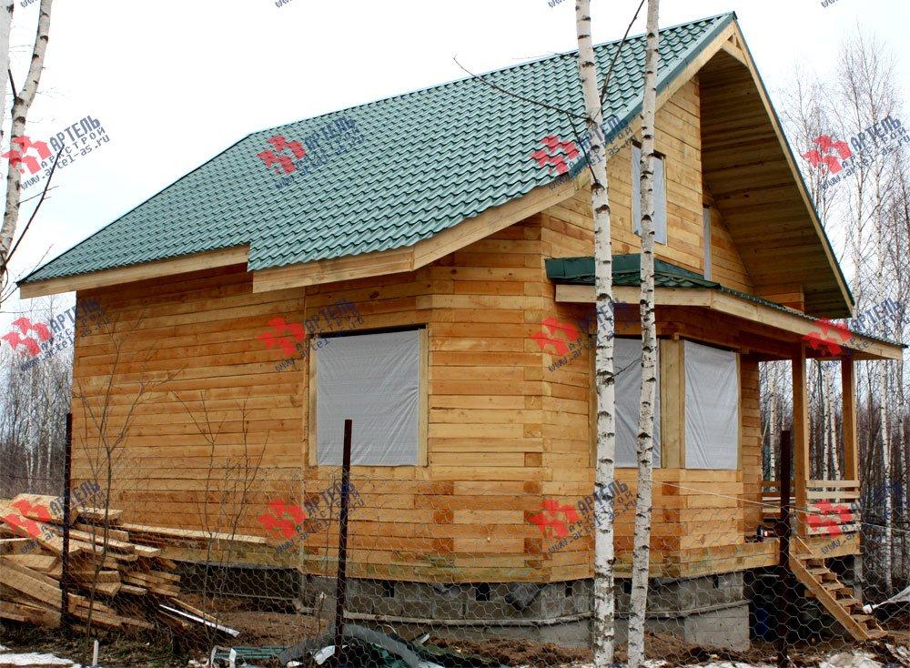 дом из бруса построенный по проекту Вариант 8.5 И фотография 2430