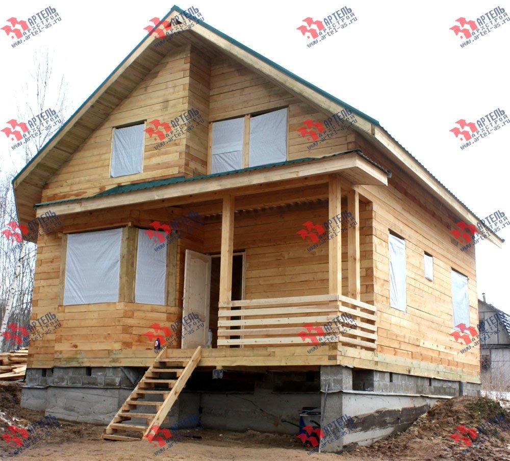 дом из бруса построенный по проекту Вариант 8.5 И фотография 2428