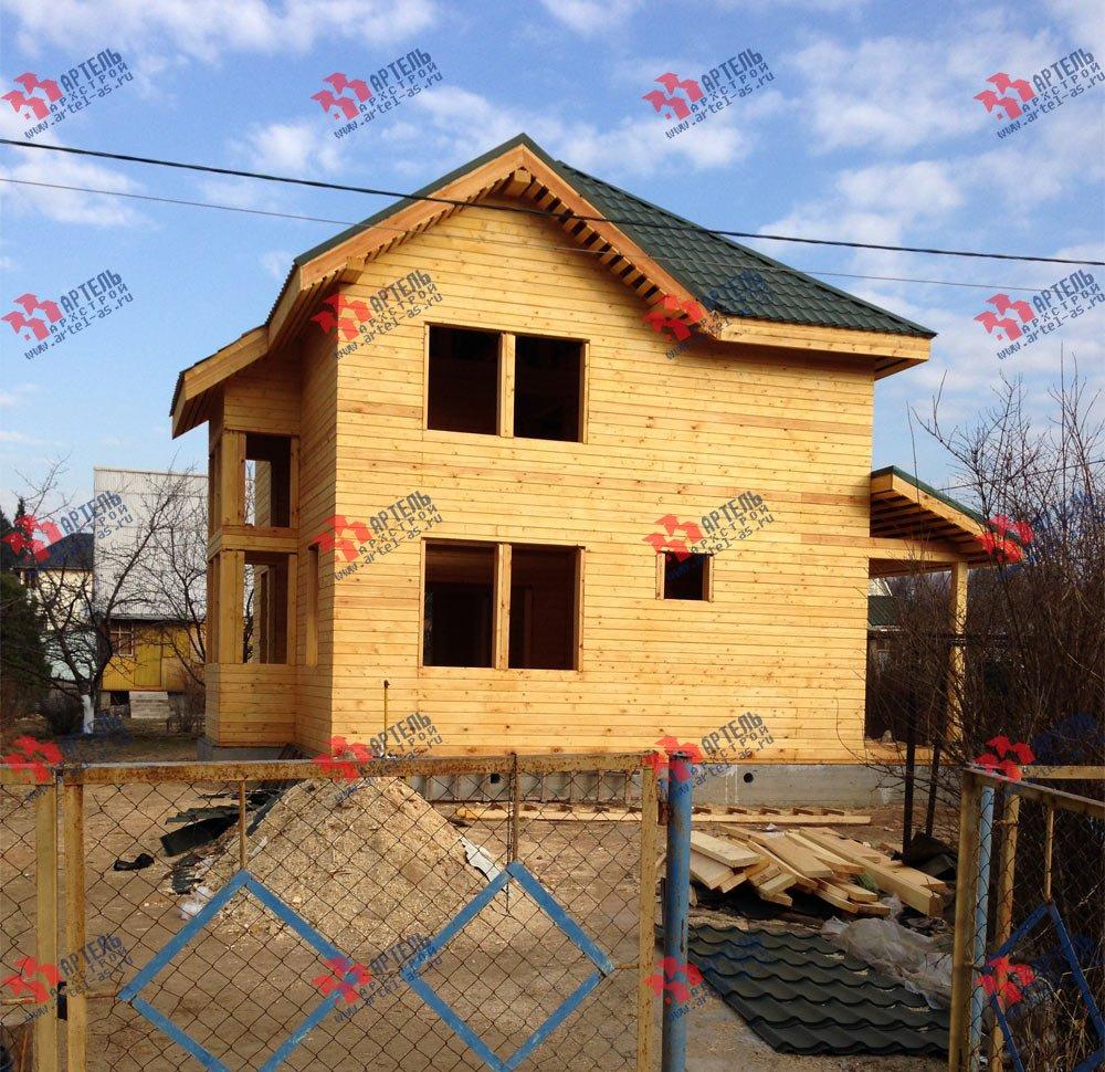 дом из профилированного бруса построенный по проекту Вариант 9.3 А фотография 3325